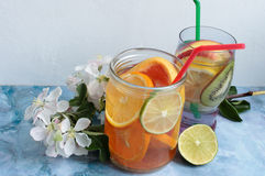 Agua de la fruta del Detox Imagenes de archivo