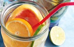Agua de la fruta del Detox Imágenes de archivo libres de regalías