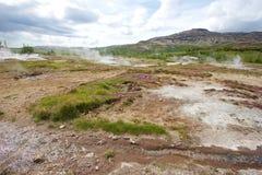 Agua de la fuente termal Fotos de archivo
