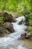 Agua de la montaña que fluye Foto de archivo libre de regalías