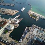 Agua de la nave del mar de Helsingborg del puerto imagen de archivo libre de regalías