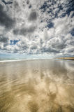 Agua de la playa de 90 millas En alguna parte en Nueva Zelandia Foto de archivo libre de regalías