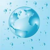 Agua de la tierra ilustración del vector