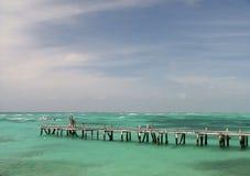 Agua de la turquesa fotografía de archivo