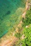Agua de la turquesa del lago Superior Foto de archivo libre de regalías