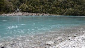 Agua de la turquesa y cascadas de rugir a Billy Falls, Nueva Zelanda almacen de metraje de vídeo