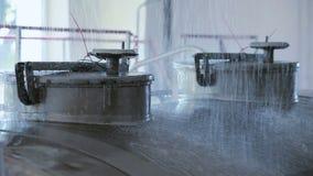 Agua de lavado del coche de la leche Proceso de la fábrica de la lechería Agua de limpieza del camión de la leche almacen de video
