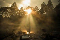 Agua de manatial caliente Fotografía de archivo libre de regalías
