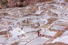 Agua de manatial salada mineral natural Perú Foto de archivo libre de regalías