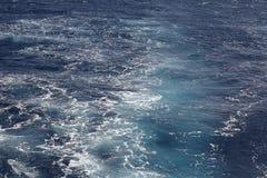 Agua de mar azul de la textura Fotografía de archivo