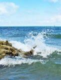 Agua de mar del chapoteo Foto de archivo libre de regalías