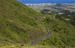 Agua DE Pau Massif Toneelweg op het Portugese eiland van Sao Miguel, de Eilanden van de Azoren, Portugal Stock Afbeelding