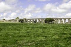 Agua de Prata Мост-водовод (мост-водовод серебряной воды) в Evora Стоковое Изображение