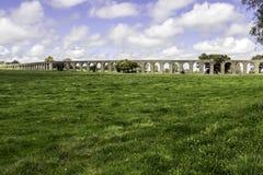Agua de Prata Aqueduct (Aqueduct of Silver Water) in Evora Stock Photos