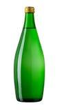 Agua de soda en la botella de cristal Foto de archivo libre de regalías
