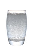 Agua de soda en vidrio Foto de archivo libre de regalías