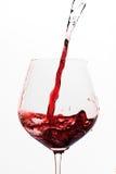 Agua de torneado en el vino Fotografía de archivo libre de regalías