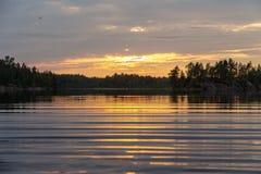 Agua de un lago del bosque Imagen de archivo