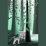 Agua del bosque de la muchacha stock de ilustración