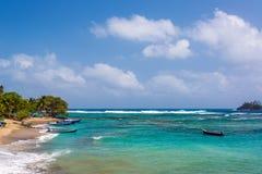 Agua del Caribe hermosa fotos de archivo