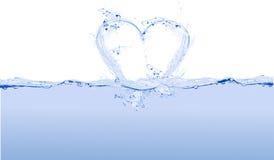 Agua del corazón stock de ilustración