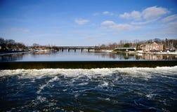 Agua del derramamiento del río del Fox imagen de archivo