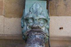 Agua del detalle de Dragon Decoration European Cathedral Architectural Foto de archivo libre de regalías