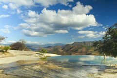 Agua del EL de Hierve en el estado de oaxaca, México Fotografía de archivo libre de regalías