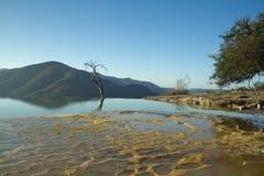 Agua del EL de Hierve en el estado de oaxaca, México Imagen de archivo libre de regalías
