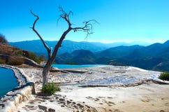 Agua del EL de Hierve en los valles centrales de Oaxaca méxico Fotografía de archivo
