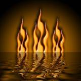 Agua del fuego Imagen de archivo libre de regalías