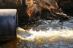 Agua del peligro Imagenes de archivo