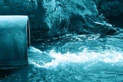 Agua del peligro Foto de archivo