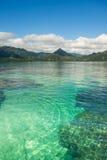 Agua del verde esmeralda de Hawaii fotografía de archivo