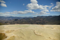 Agua do EL de Hierve no estado de oaxaca, México Fotografia de Stock