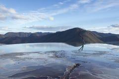 Agua do EL de Hierve no estado de oaxaca, México Fotografia de Stock Royalty Free