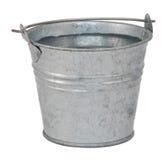 Agua dulce en un cubo miniatura del metal Foto de archivo libre de regalías