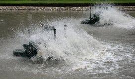 Agua eléctrica del tratamiento Imagen de archivo