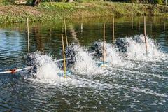 Agua eléctrica del tratamiento Foto de archivo libre de regalías