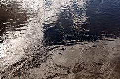 Agua en el río Imágenes de archivo libres de regalías