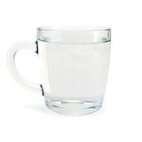 Agua en la taza de cristal foto de archivo