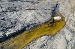 Agua en las rocas de la playa Fotos de archivo libres de regalías
