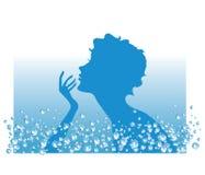 Agua en procedimientos del BALNEARIO Fotografía de archivo libre de regalías
