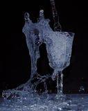 Agua en un vidrio Imagenes de archivo