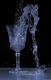 Agua en un vidrio Imágenes de archivo libres de regalías