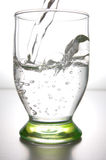 Agua en un vidrio Fotos de archivo