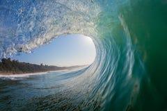 Agua-foto interior del hueco de la onda perfecta Imagen de archivo libre de regalías
