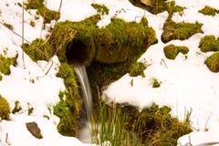 Agua fría aflautada Fotografía de archivo