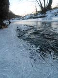 Agua fría congelada en Eslovaquia Foto de archivo