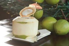 Agua fresca del coco Foto de archivo